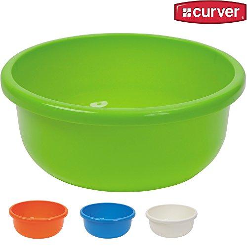 Spülschüssel aus Kunststoff, rund, ø 28 cm, 4,5 Liter, versch. Farben: Waschschüssel Plastikschüssel Schüssel Camping Spüle