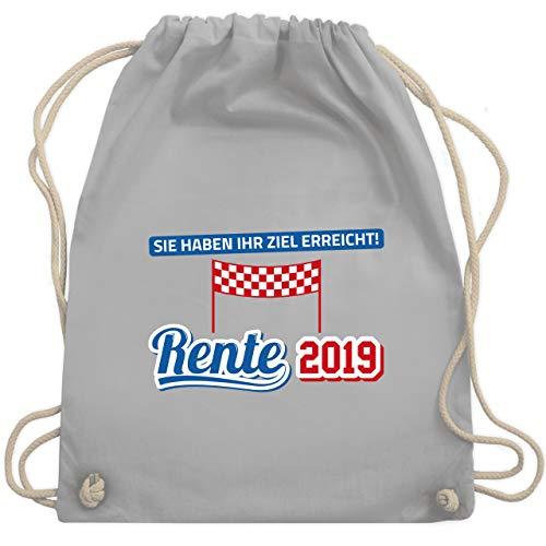 Sonstige Berufe - Rente 2019 Sie haben Ihr Ziel erreicht - Unisize - Hellgrau - WM110 - Turnbeutel & Gym Bag