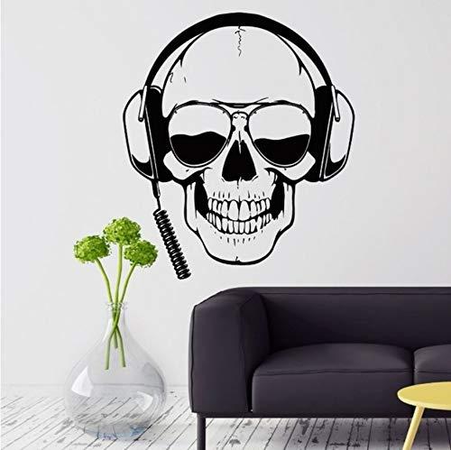 32b4c8e3bde Your boy-HT Gamer Tatuajes de Pared Skull Headphones Gamer Etiqueta de la  Pared Gafas de Sol extraíbles Jugador Cartel de la Pared Niños Sala de  Juegos ...