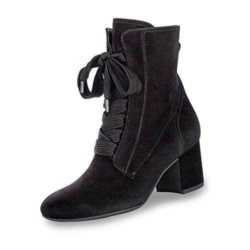 Paul Green 9201-001 Damen Stiefelette aus Veloursleder Elegante Sohle mit Absatz, Groesse 40, schwarz
