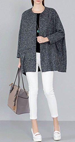 LeahWard® Große Größe Schultertaschen Zum Damen mode Berühmtheit Stil Damen Einkaufstasche Essener Tote Handtasche A4 350 CWM0030-Grau/nackt