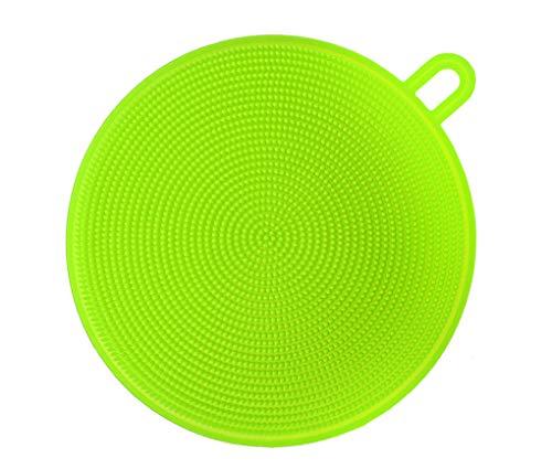 M-import Küchenschwamm - Silikon Schwamm Scrubber - Antibakterielle Reinigungsbürste Küche & Bad (Grün) -