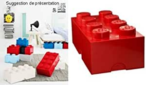 LEGO - BOITE DE RANGEMENT 8 plots - Rouge