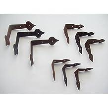 Ironmongery World® caso Pecho Caja baúl caja de esquinas ángulo placas reparación Brace para decoración