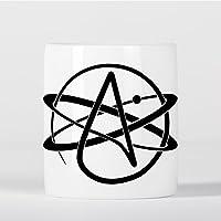 Atheist Symbol Atomic Whirl Atheism Rutherford Atom with Circle Spardose - preisvergleich