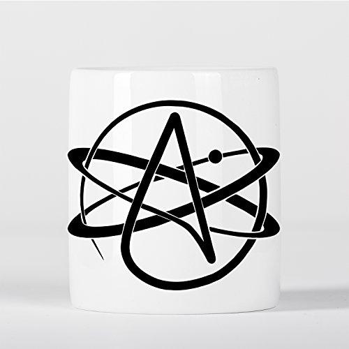 Micro Gorilla Atheist Symbol Atomic Whirl Atheism Rutherford Atom with Circle Spardose