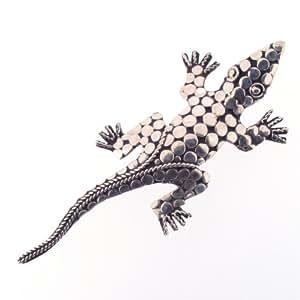 Broche Crocodile en Argent Sterling