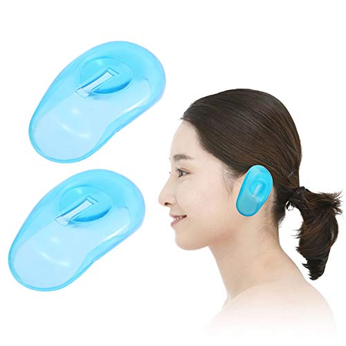 Newin Star Impermeable de pl/ástico de la protecci/ón auditiva del o/ído almohadillas cubierta del protector de las orejeras de pelo ba/ño de tinte Ducha