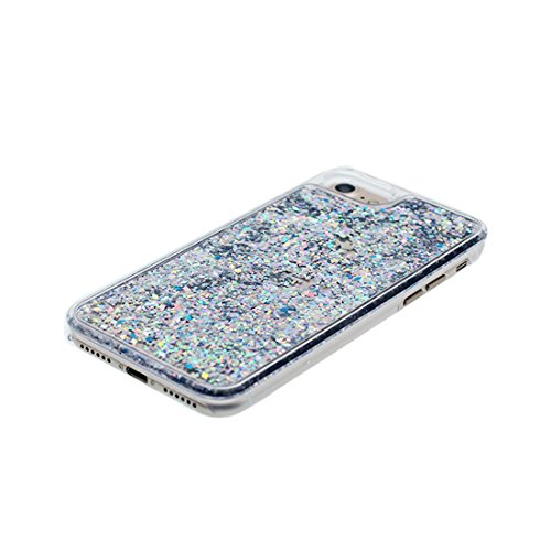 Coque iPhone 7 Plus, [Bling Bling Glitter ] iPhone 7 Plus étui Cover (5.5 pouces), Fluide Liquide Sparkles Sables, iPhone 7 Plus Case anti- chocs & ring Support bleu # 4