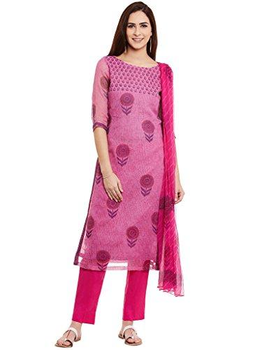 Dress Material by Pinkshink | Pink Cotton Churidar Suit Dupatta Material p124