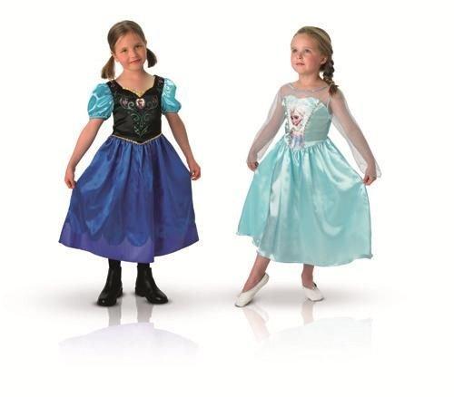Die Eiskönigin Elsa und Anna Kostüme für Mädchen 110/116 (5-6 Jahre)