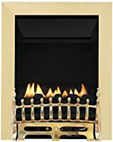 Broadly Flueless Inset Gas Fire - Brass