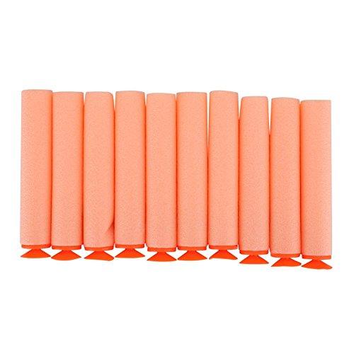 GLOGLOW 10pcs 7,2 cm Universal Saug Darts Foam Kugel N-Strike Elite Serie Saugkopf Refill Soft Kugeln Darts für Nerf N-Schlag Elite Serie Blaster Spielzeug Pistole Nerf Munition Refill Pack Orange