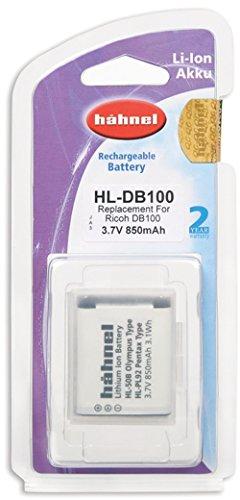 Hähnel HL DB100 Li-Ion Akku für Ricoh Digitalkameras - Ersatzakku für Ricoh DB-100 schwarz