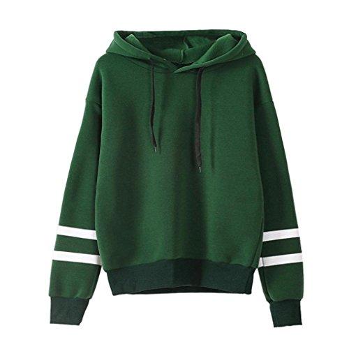 OIKAY Damen Langarm Hoodie Sweatshirt Pullover mit Kapuze Pullover Tops Bluse -