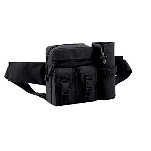 Blueidea® Multifunzione Staccabile Bollitore Packet CS Camouflage Tactical Pack Outdoor Piccolo Sacchetto Impermeabile Portafoglio Equitazione Marsupio Pacchetto Zaino (Nero)