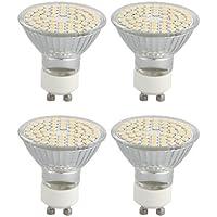 TOOGOO (R) 4 pezzi M1 GU10 4W 60 LED bianco caldo 3528 SMD lampadina LED Lampadina faretto