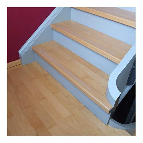 10 Anti-Rutsch Streifen für Treppen - transparent - 80x3cm – Stufe