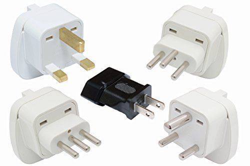 SET 5x Reisestecker Adapter für Malediven Typen: A, D, G, J, L