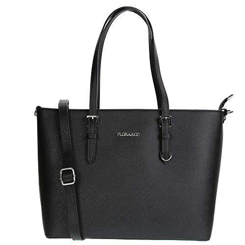 fournir un grand choix de New York original à chaud Flora & Co - Paris - Grand sac à main Femme F9126, Cabas,  Lycéenne/Etudiante - Format A4 - Porté main/avant-bras - Noir