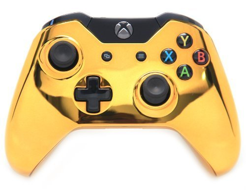 Chrome Gold Xbox One Rapid Fire Modded Controller 40 Mods for COD Ghosts Quickscope, Jitter, Drop Shot, Auto Aim, Jump Shot, Auto Sprint, Fast Reload, Much More