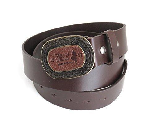MCS Marlboro Classics Cintura in pelle per uomo di colore marrone scuro XL/100