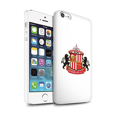 Offiziell Sunderland AFC Hülle / Matte Snap-On Case für Apple iPhone SE / Pack 6pcs Muster / SAFC Fußball Crest Kollektion Weiß