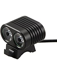 LED Scheinwerfer, Nourich 8000 Lumen 2X CREE XM-L2 LED Fahrradleuchte Fahrradbeleuchtung, Fahrradlampe Fahrradlicht, Rücklicht, Aufladbare Fahrradlichter Camping Wandern Licht (schwarz)