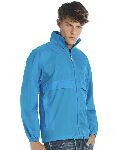 B&C Sirocco Windbreaker Jacket COLOUR Atoll SIZE XXL (Full Zip Windbreaker Nylon)