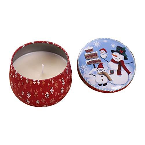 Weihnachtsdose Rauchfreier Duft Aromatherapie Kerze Natur Soja Wachs Wohnkultur -