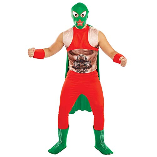 Fun Shack Herren Costume Kostüm, Mexican Wrestler, XL