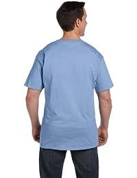 Hanes Beefy-T Adult Pocket T-Shirt_Light Blue