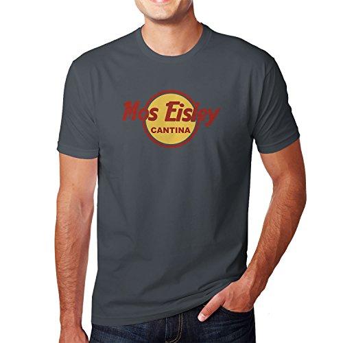 ey Cantina - Herren T-Shirt, Größe: L, Farbe: Grau (Han Und Leia Kinder)