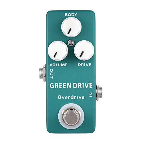 AMMOON PEDAL DE EFECTO DE GUITARRA MOSKY MP 53 GREEN DRIVE OVERDRIVE MINI SINGLE TRUE BYPASS