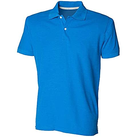 Skinni Fit Mens Thick And Thin Short Sleeve Cotton Casual Polo Shirt Black,Blue