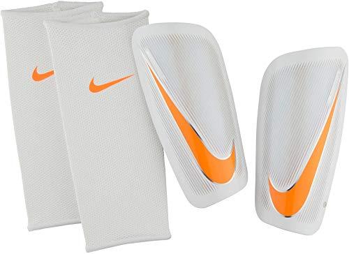 Nike Erwachsene Mercurial Lite Schienbeinschoner, White/Total orange, L (Hockey-schienbeinschoner Für Erwachsene)