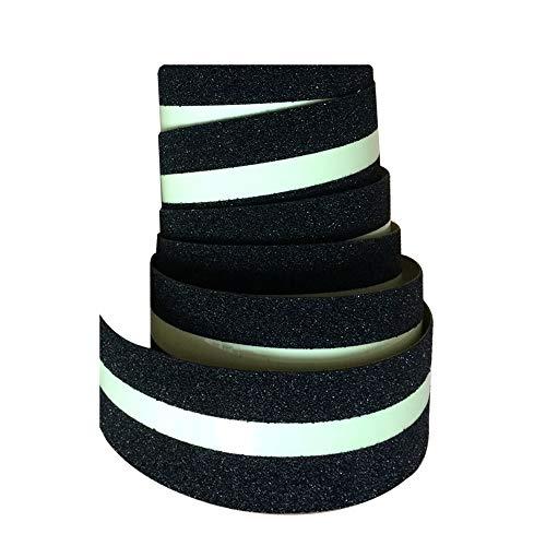 SBOM - Nastro adesivo antiscivolo luminoso per corridoio/scale/esterni, molto resistente all'acqua, forte adesione, 50 mm x 5 m