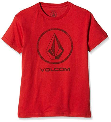 Volcom Jungen Fade Stone Basic T-Shirt, Candy Apple, S, C3511658CDY (Fade-jungen-t-shirt)