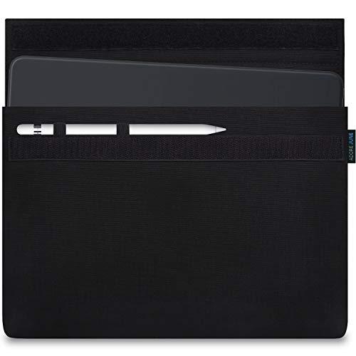 Adore June 10,5/11 Zoll Classic Tasche für Apple iPad Air 10.5 2019, Apple iPad Pro 11 und Apple iPad Pro 10 5 mit Apple Pencil Halterung, Schwarz