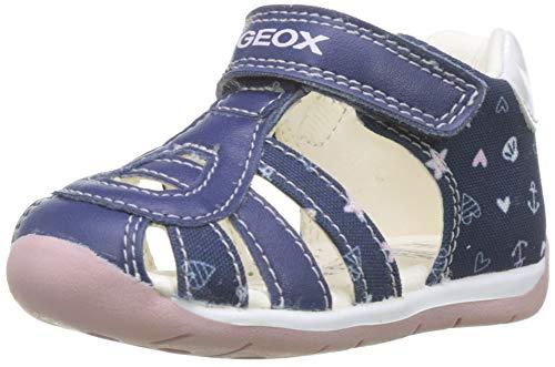 Geox Baby Mädchen B Each Girl C Sandalen, Blau (Navy/Pink C0694), 19 EU