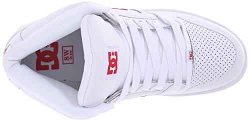 DC - Les femmes rebond Hightop Salut Chaussures White/Red