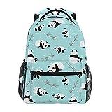 Mochila Escolar de Oso Azul Panda para Mochila de Viaje para niños niñas niños Bookbag