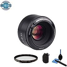 YONGNUO Objetivo YN50MM F/1.8 Automático de Gran Apertura Lente (Apertura F/1.8) para Nikon DSLR Cámara Fotografía con 58mm UV