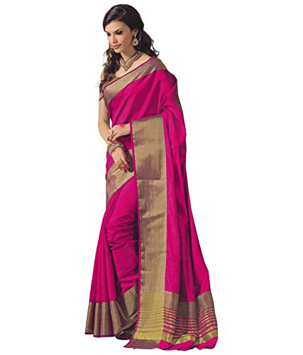 Perfectblue Cotton Silk Saree (Pinkdentin23_Pink)