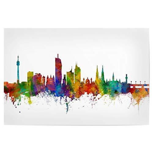 artboxONE Poster 30x20 cm Städte Vienna Austria Skyline - Bild Vienna Wien Wasserfarben