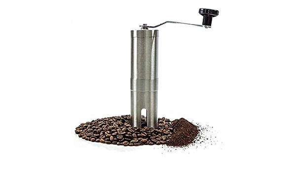 macinacaff/è manuale leggero espresso Macinacaff/è manuale con manico in acciaio inossidabile portatile e regolabile macinacaff/è in grani intero per caff/è americano birra turca stampa francese