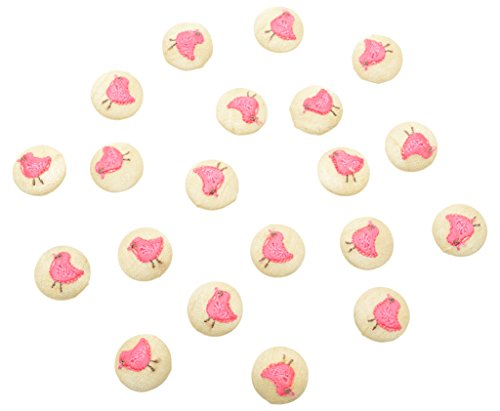 Fabric and Lace Buttons Embroidery Birds Design With Color Tread Work Buttons