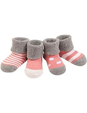 4 Paar Baby Mädchen Socken Lieblich Herbst Winter Weich Baumwolle Bunt 0-36 Monate