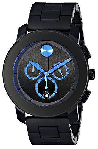Movado BOLD - Reloj (Reloj de pulsera, Unisex, Acero inoxidable, Negro, Acero inoxidable, Negro)