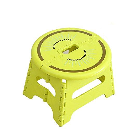 CKH Frucht-faltender Schemel-Plastik gepolsterter tragbarer Schemel-tragbarer Stuhl-Kind-Erwachsener Minihocker-Bank (Color : Kiwi) -